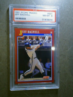 JEFF BAGWELL 1991 Score Traded #96T Graded Rookie RC PSA 8 HOUSTON ASTROS