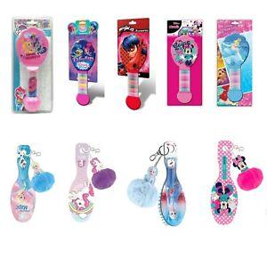 Girls Kids Hair Brush w Bobbles Hair Brush w Pompom Cute Characters Disney Gift