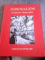 1970 Jerusalem Ephraim Lilien 36 Great Art Designs Superb Bezalel English WOW