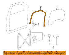 GM OEM Front Door-Window Channel Seal Weatherstrip Right 22803683