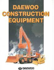 Equipment Brochure Daewoo Construction Product Line Overview C1997 E6380