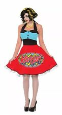 Womens Pop Art Kapow Dress Costume Standard Size 6-14