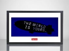 Supreme x Scarface The World Is Yours 11x17 Poster Print Box Logo Movie Wall Art