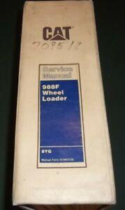 CAT CATERPILLAR 988F WHEEL LOADER SERVICE SHOP REPAIR MANUAL BOOK S/N 8YG1-UP