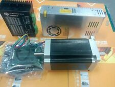 US stock  1Axis Nema34 stepper motor 1600oz.in 3.5ADual Shaft & driver power kit