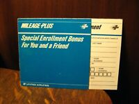 United Airlines Frequent Flyer Brochure - Vintage 1980's UAL Mileage Plus Enroll