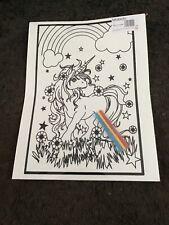 Large Unicorn Velvet Colouring Picture Board -design As Shown