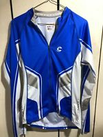 CANNONDALE Cycling Jersey Long Sleeve Zip Up Size Medium Blue