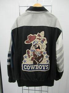 H2774 VTG Dallas Cowboys Taz Devil NFL-Football Jacket Size L