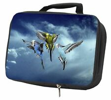 More details for budgies in flight black insulated school lunch box bag, ab-96lbb