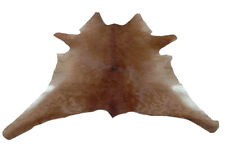 "Cowhide Rugs Calf Hide Cow Skin Rug 27""x31"" Brown and White CH5188"