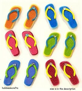 FLIP FLOP CABOCHONS Jolee's Boutique 3-D Stickers Holiday Vacation Sandals
