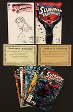 SUPERMAN UNCHAINED #1 - 9 Comic ORIGINAL ART Jose Garcia-Lopez SIGNED JIM LEE NM
