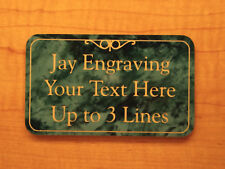 Custom Engraved Marble Green Office Suite Sign | Home Decorative Personalized