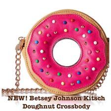 NEW Betsey Johnson KITSCH Pink Doughnut Donut Crossbody Clutch Purse Bag