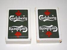 Set Of 2 Carlsberg Brewing Beer Deck Of Belgium Playing Cards New Sealed Box
