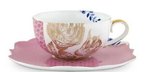 NEW Pip Studio ROYAL PINK Porcelain Tea Cup & Saucer porcelain