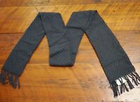 HARRODS Knightsbridge 100% Soft Lambs Wool Made in Scotland Warm Winter Scarf