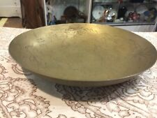 "Vintage  Antique Mid Century Brass Dragon Bowl  Fantasy Asian  Centerpiece 10"""