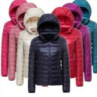New Women's Coat Ultralight Hooded Down Jacket Puffer Parka Down Coat S-2XL