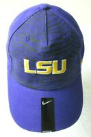 Nike Mens LSU Louisiana State University Tigers Legacy Swoosh Hat Purple NWT