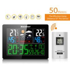 Station Météo LCD Wireless Horloge Prévisions Température Humidité Ex/Intérieur