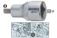 HAZET Radlagergehäuse Spreizer Werkzeug Achse Radlager federbein 4912-2 nuss