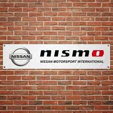 Nissan Nismo Banner Garage Workshop PVC Sign Trackside Motorsport Car Display v2