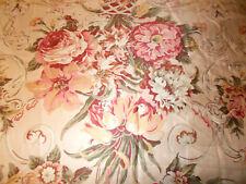 Rare Ralph Lauren Guinevere Floral Full Flat Sheet Aragon Medieval Sateen