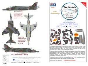TopNotch Hawker Harrier GR 3 Standard camouflage scheme vinyl mask set