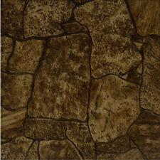 Rustic Stone Vinyl Tile 40 Pc Adhesive Kitchen Flooring - Actual 12'' x 12''
