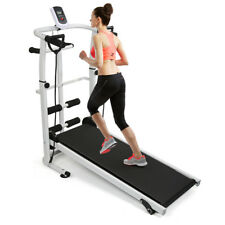 Laufband Mechanisch Fitnessgerät Verdrehen Jogging Heimtrainer mit LED-Display