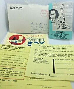 1963 Chicago White Sox BATTS Baseball Schedule & Decal & Ticket Info Sheets