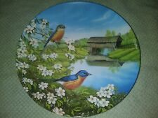 1991 Knowles Blue Birds in Spring 2nd Issue in Birds of Seasons # 2069A