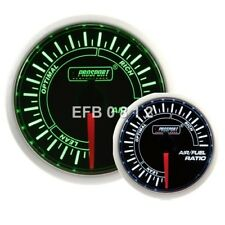 52MM PROSPORT STEPPER SMOKED MOTOR GREEN / WHITE AIR / FUEL RATIO AFR GAUGE