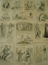 Caricature Vignettes Tour de Magie L' Escamotage d'une jeune personne 1886