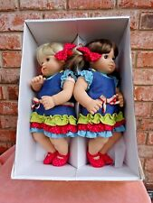 American Girl Bitty Baby Twins Dolls Box Blonde & Brunette Girls 2002 Pleasant