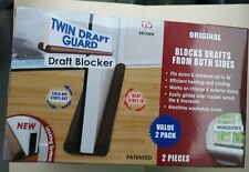 Twin Draft Guard, Draft Dodger for Windors and Doors, 2 Pieces, As Seen on TV