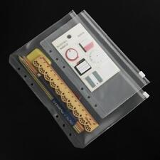 3X PVC-Aufbewahrungstasche Notebook Tagebuch Zeitplan Reißverschluss Taschen w~