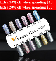 Venalisa Platinum Nail Gel Polish Uv Soak Off Glitter Base Top Coat Manicure Art
