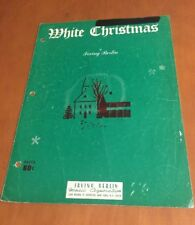 White Christmas by Irving Berlin Sheet Music From 1942
