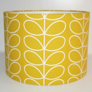 Orla Kiely Yellow Gold  Linear Stem Dandelion Drum Lampshade (20 25 30 35 40cm)