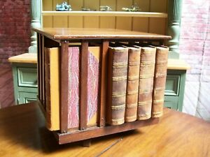 EDWARDIAN TABLE TOP REVOLVING BOOKCASE