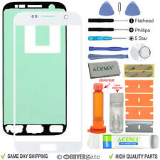 Samsung Galaxy S7 Replacement Screen Front Glass Outer lens Repair Kit WHITE UK