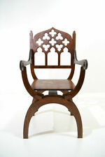 Gothic dantesca throne chair for Tonner BJD Dolls 1/4 scale Furniture OOAK V3