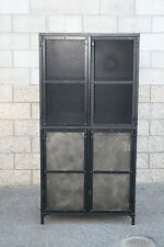 Industrial cupboard/cabinet. Reclaimed wood options avail., Modern, steel. Urban
