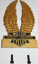 Harley Sissy Bar Insert Eagle Wings With Screws Bar & Shield Gold Accessory 1408