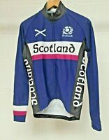 Long Sleeve Scotland Cycling Jersey Top Roubaix Full Zip Navy Cycle Top Jacket
