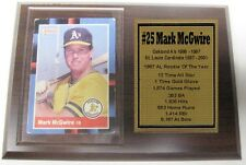 Oakland A's Mark McGwire Donruss Baseball Card Plaque