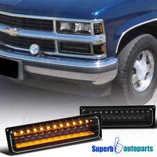 For 88-99 GMC C/K Chevy C10 LED Bumper Signal Lamps Parking Lights Black